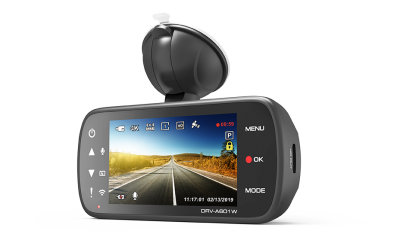 Kenwood Dual Camera Package with 4K (8.3 MP) Front Camera & Wide Quad-HD (3.7 MP) Rear Camera - DRVA601WDP
