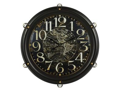Boxman Dark Brown Wall Clock with Globe - JD1790
